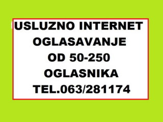 Usluzno internet oglasavanje na 50-100-150-200 oglasnika