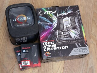 Threadripper 1950x 16core 32T, MSI Meg Creation X399, 32Gb